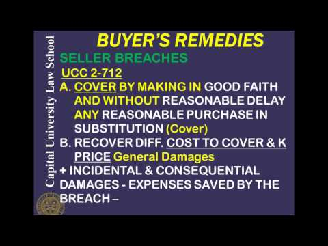 Remedies Video Lecture 1 - Contract Damages, Buyers Remedies