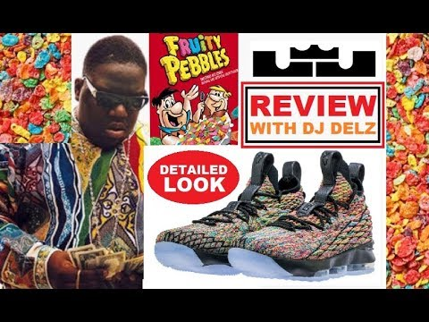 5649c8ddbc NIKE LEBRON 15 FRUITY PEBBLES AKA BIGGIE COOGI FOUR HORSEMEN SNEAKER REVIEW  - WATCH BEFORE YOU BUY