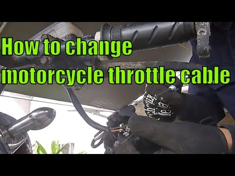 1980 Honda CB650 throttle cable replacement.
