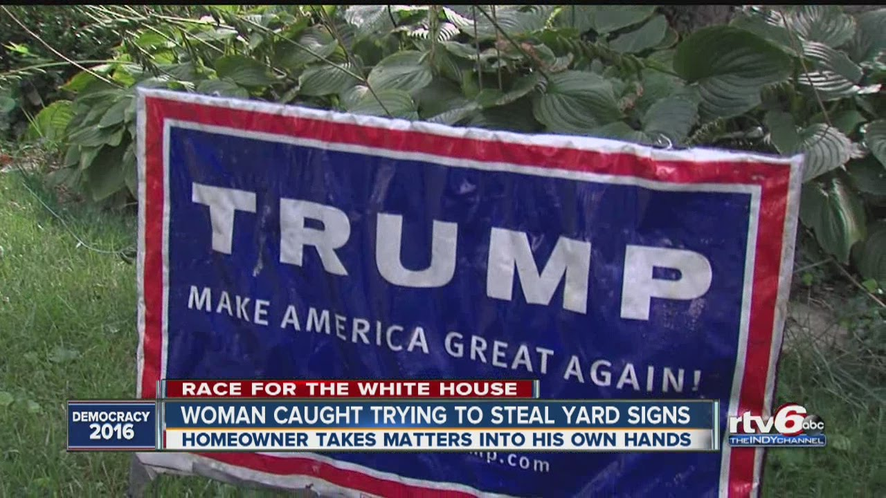 Karma Comes Swiftly For Would Be Donald Trump Sign Thief