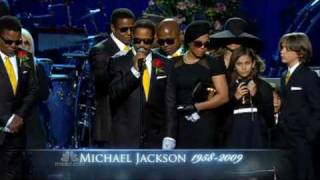 Jermaine, Marlon & Paris Jackson's Tears & Heartbreaking Words at Michael's Memorial Service