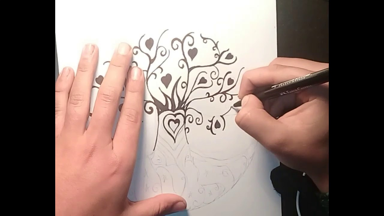 Como Dibujar El Arbol De La Vida Youtube