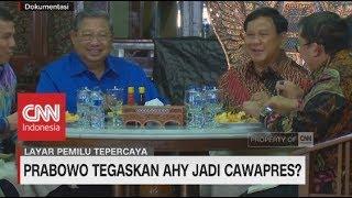 Prabowo Tegaskan AHY Jadi Cawapres?
