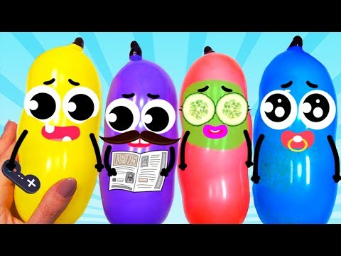 Learn Colors with Funny Balloons !! Making Slime With Funny Balloons #3
