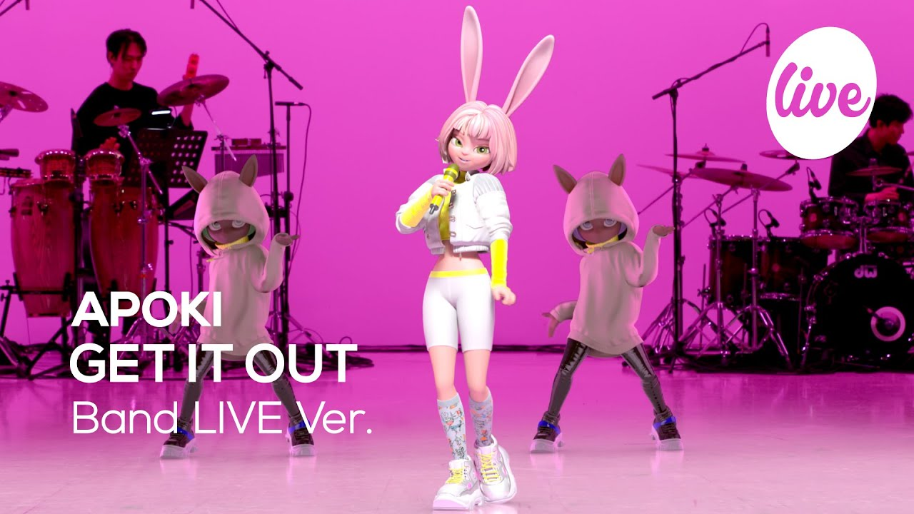 "APOKI(아뽀키)의 ""GET IT OUT"" Band Live Ver.│이렇게 춤 잘 추는 토끼 보신 분? 버추얼 스타 아뽀키의 밴드라이브 [it's KPOP LIVE 잇츠라이브]"