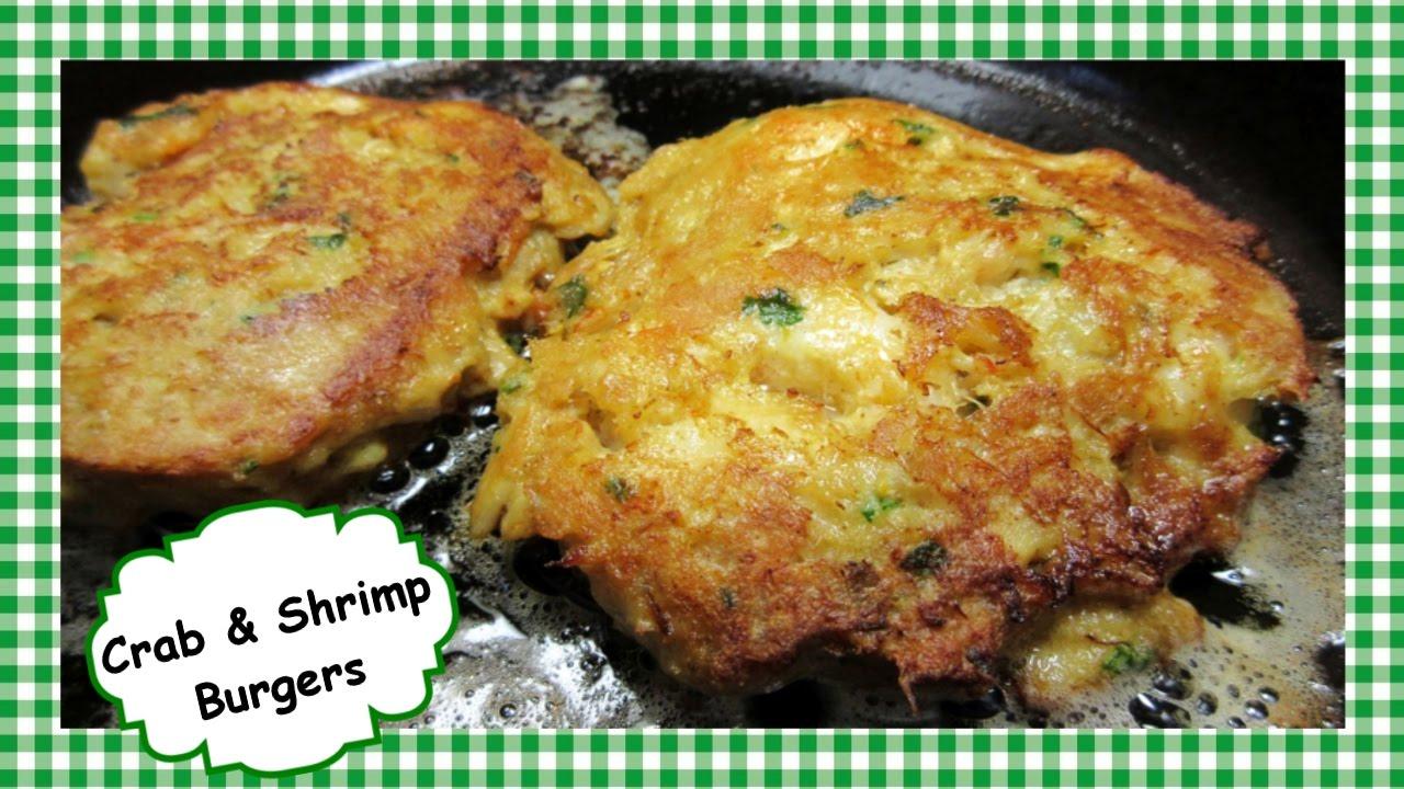The Best Crab Shrimp Burgers Crab Shrimp Cakes Recipe YouTube