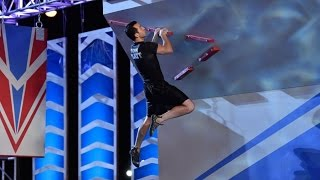 Joe Moravsky at American Ninja Warrior 2015 All Stars Competition Stage 3