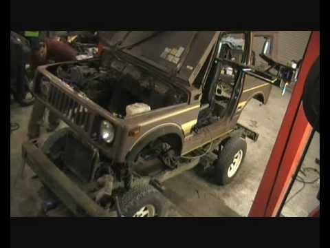 Suzuki Sj 410 Restoration Part 3 Body Off The Chassis