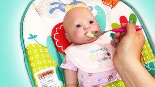 Reborn Baby Doll Feeding and Changing