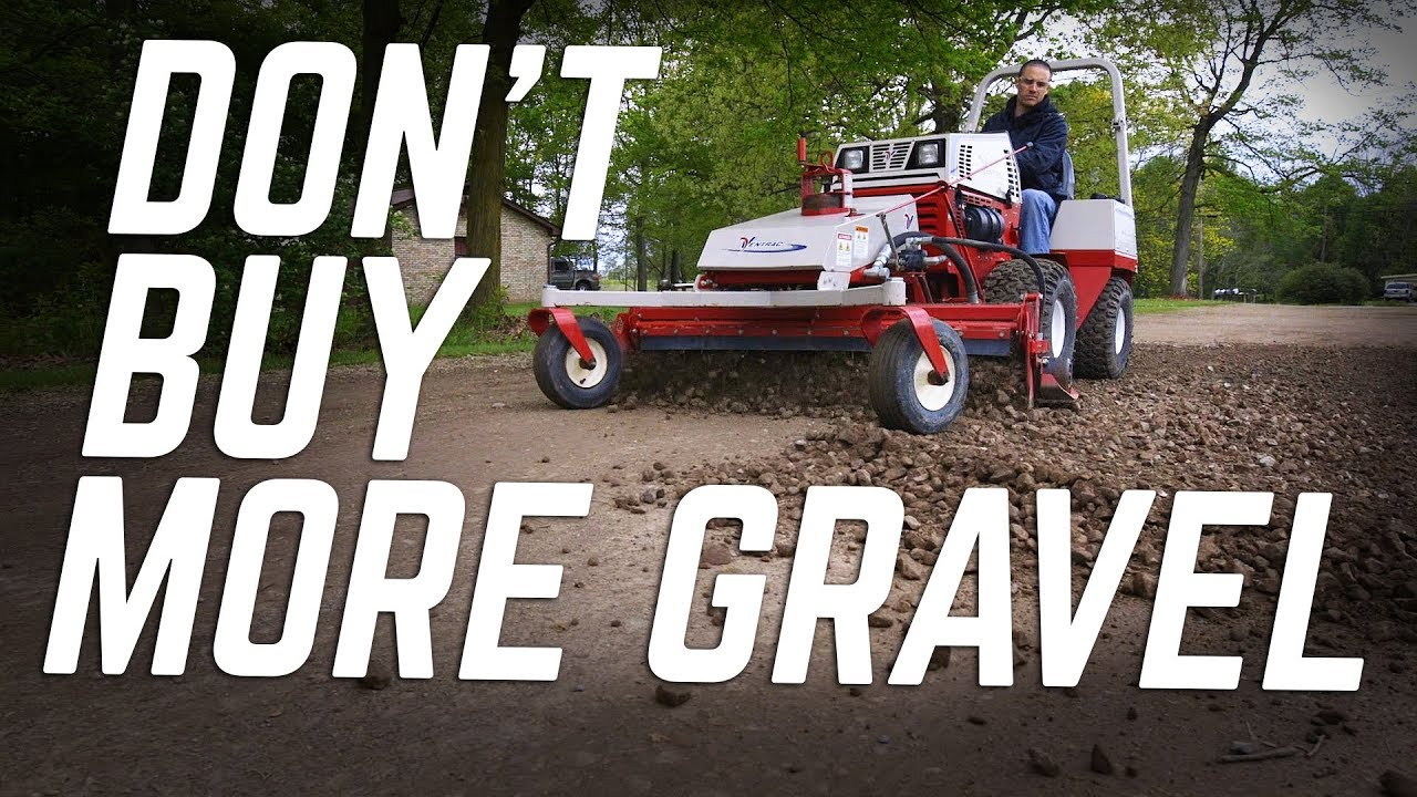 Repairing a Gravel Driveway with the Ventrac Power Rake