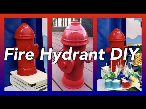 DIY Fire Hydrant Table Centerpieces Prop    Paw Patrol Party Decor