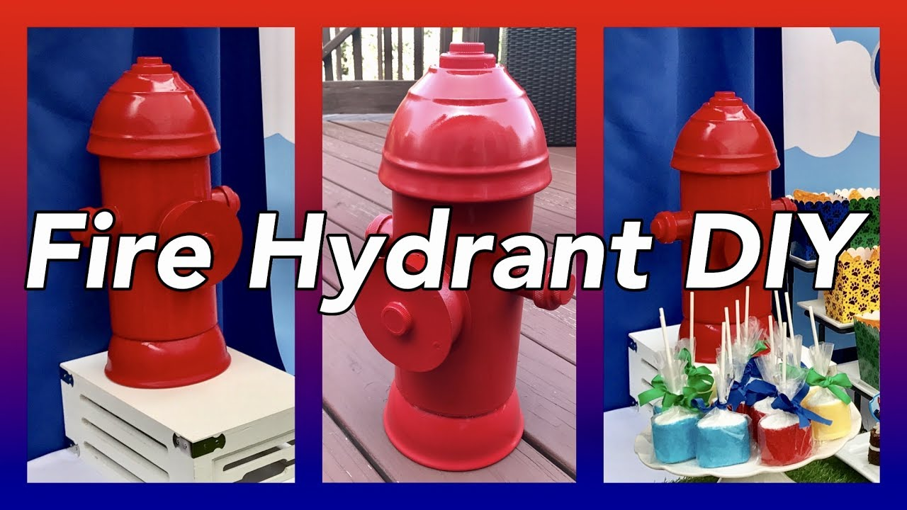 Diy Fire Hydrant Table Centerpieces Prop Paw Patrol Party Decor Youtube