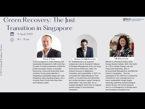[National University of Singapore] Green Recovery: The Just Transition in Singapore