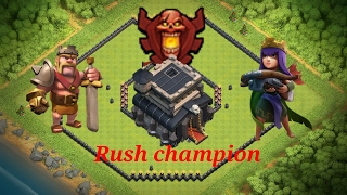 2 village hdv 9 pour rush champion 3 ou plus