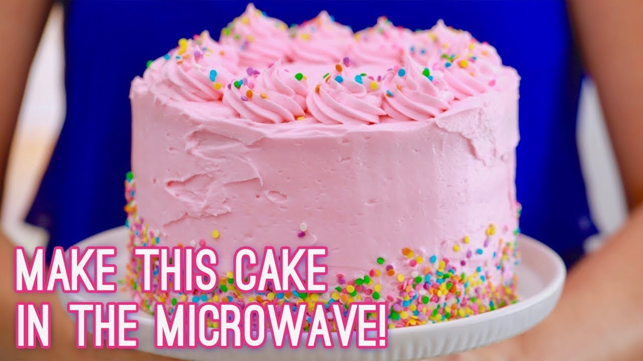 3 Layer Cake Made In The Microwave