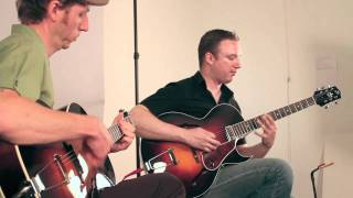Doug Martin and Jason Vanderford perform at The Loar Workshop, Hayward, CA