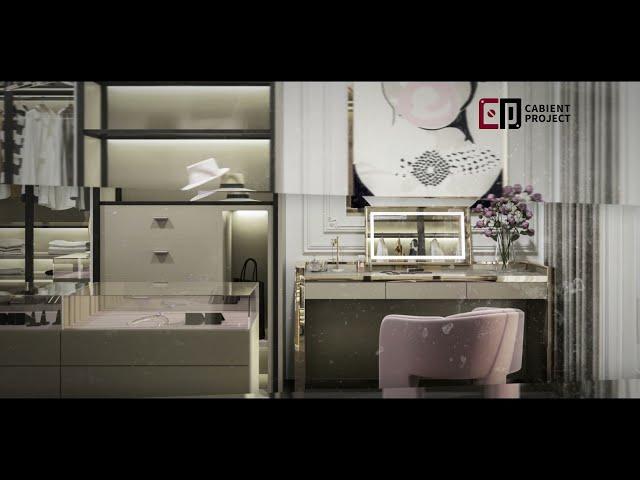 Proyecto de gabinete Sistema de guardarropa abierto y estantería de armario abierto