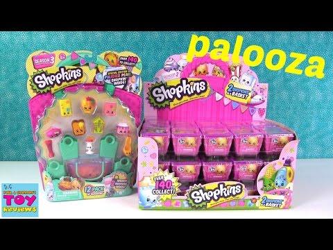 Shopkins Palooza Season 2 & 3 Blind Basket 12 Pack Unboxing | PSToyReviews