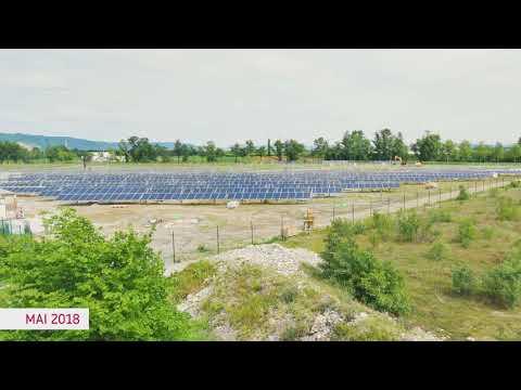 Time-lapse du parc photovoltaïque de Bourg-Lès-Valence