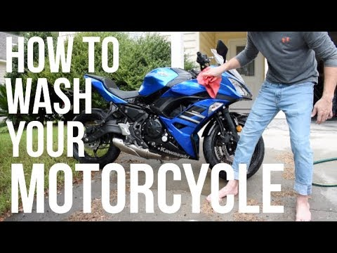 How To Wash A Motorcycle - A Complete Guide
