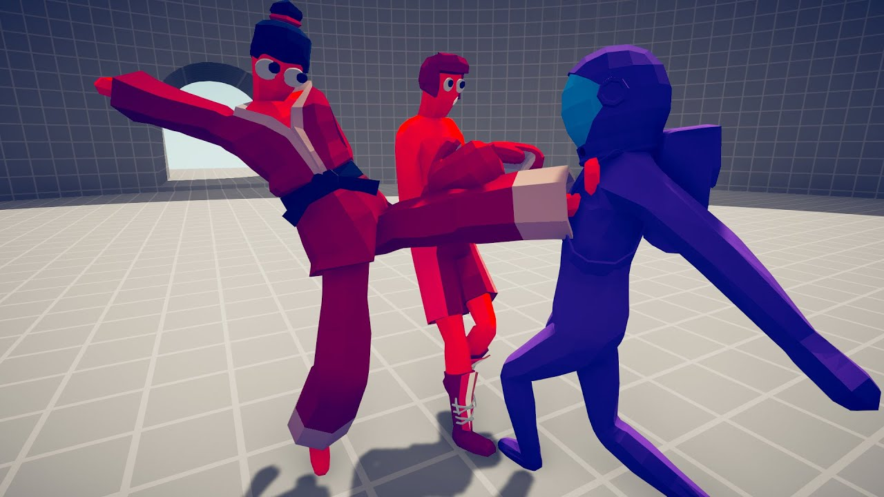 FIGHTERS 2 VS 1 UNITS. Boxer & Taekwondo Duo ► TABS UNIT CREATOR - Totally Accurate Battle Simulator