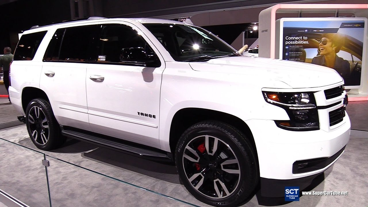 2018 chevrolet tahoe premier exterior walkaround 2017 new york auto show youtube. Black Bedroom Furniture Sets. Home Design Ideas