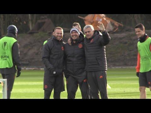 Manchester United Squad Train Ahead Of Their Europa League Match Against Feyenoord