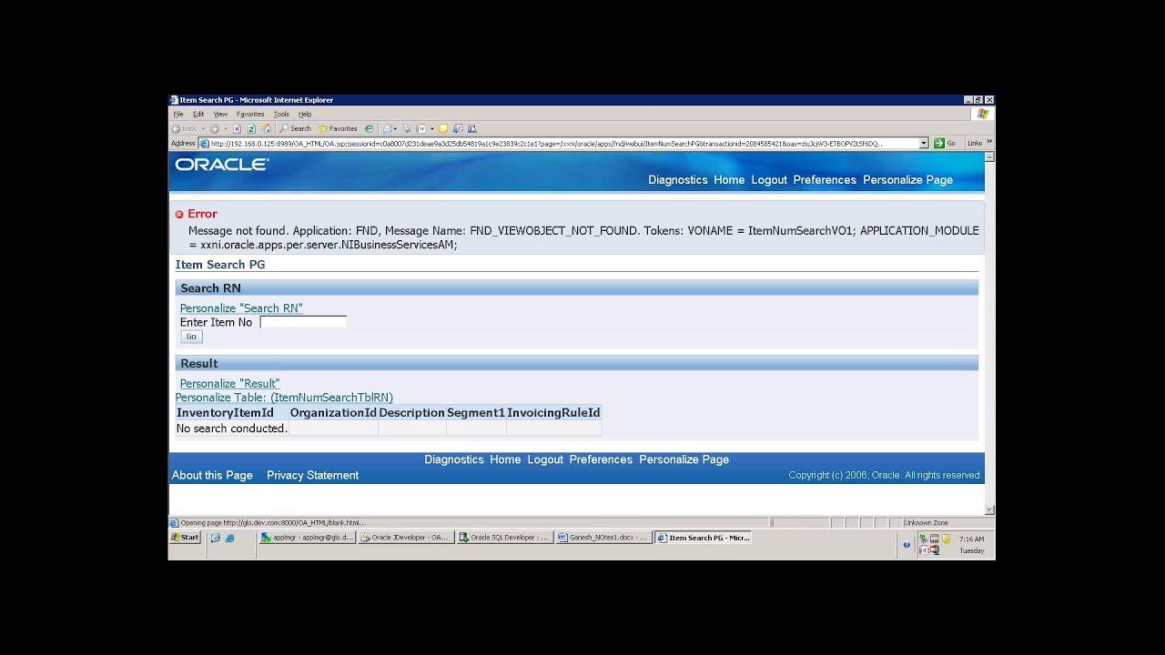 OAF Search Page , Using Lov, PopList, Dynamic Where Clause