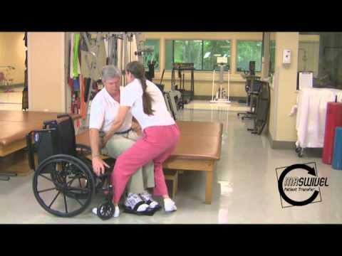 Slide Board patient trasfer technique using The Swivel