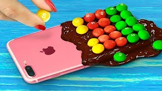 7 DIY Edible Phone Cases / Edible Pranks! thumbnail