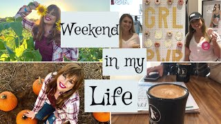 WEEKEND IN MY LIFE | Piercings, Pumpkin Patch Photo Shoots, PINK Rep Events on Fall Break