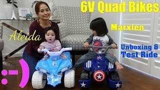 Family Toy Channel: Toddlers' 6 Volts Ride-On Quad Bikes. Disney Frozen and Captain America