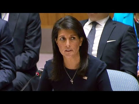 "U.S. Ambassador Haley at the UNSC: Kim Jong Un is ""begging for war"""