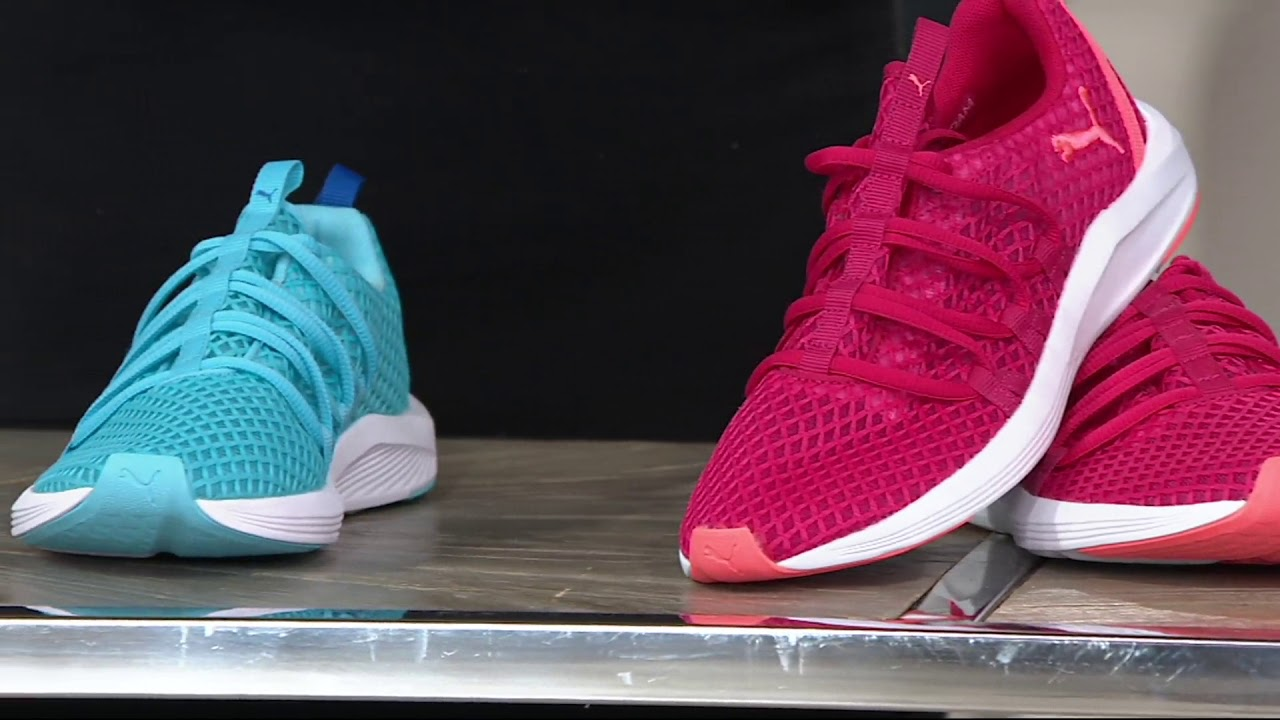 25dc1b676664 PUMA Mesh Lace-up Sneakers - Prowl Alt Mesh on QVC - YouTube