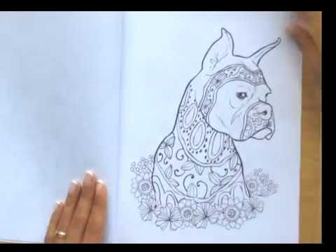 Dog Lovers Adult Coloring Book Flip Through