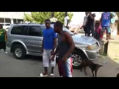 Two men Fighting in Grenada
