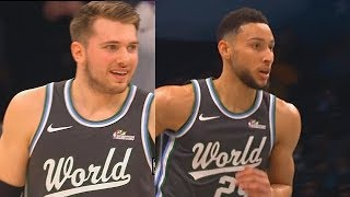 Team World vs Team USA Full Highlights With Luka Doncic & Ben Simmons! 2019 NBA Rising Stars Game