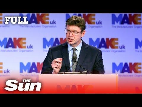 Business Secretary Greg Clark speech on Brexit and Honda closure (FULL)