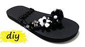 9651217ba40dd Summer Sandals Easy Decorating Ideas to Restyle Your Flip Flops DIY ...