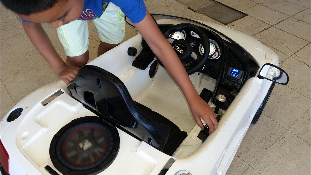 Audi R8 Power Wheels Sound System Youtube