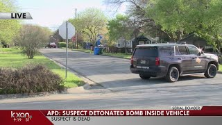 Officials investigate scene where bombing suspect died and where he may have lived