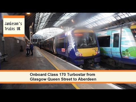 Onboard Class 170 Turbostar from Glasgow Queen Street to Aberdeen
