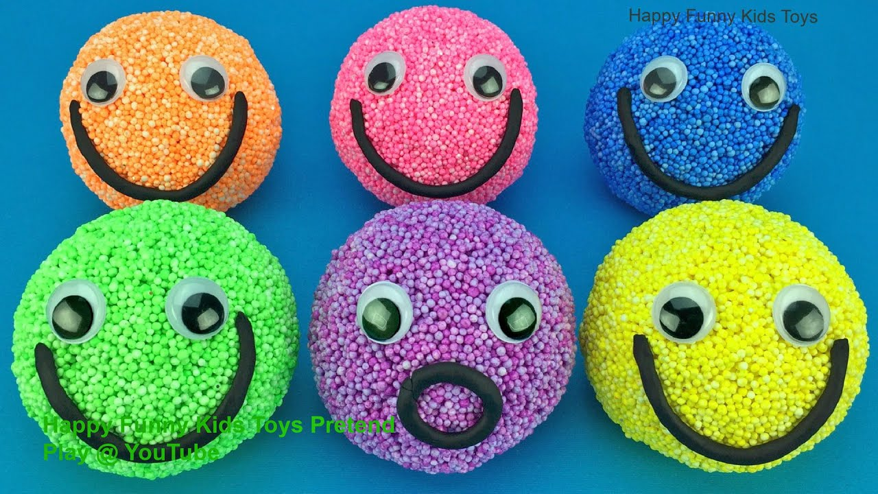 Play foam Balls Smiley Face with Kinder Surprise Eggs Star Wars Surprise Toys
