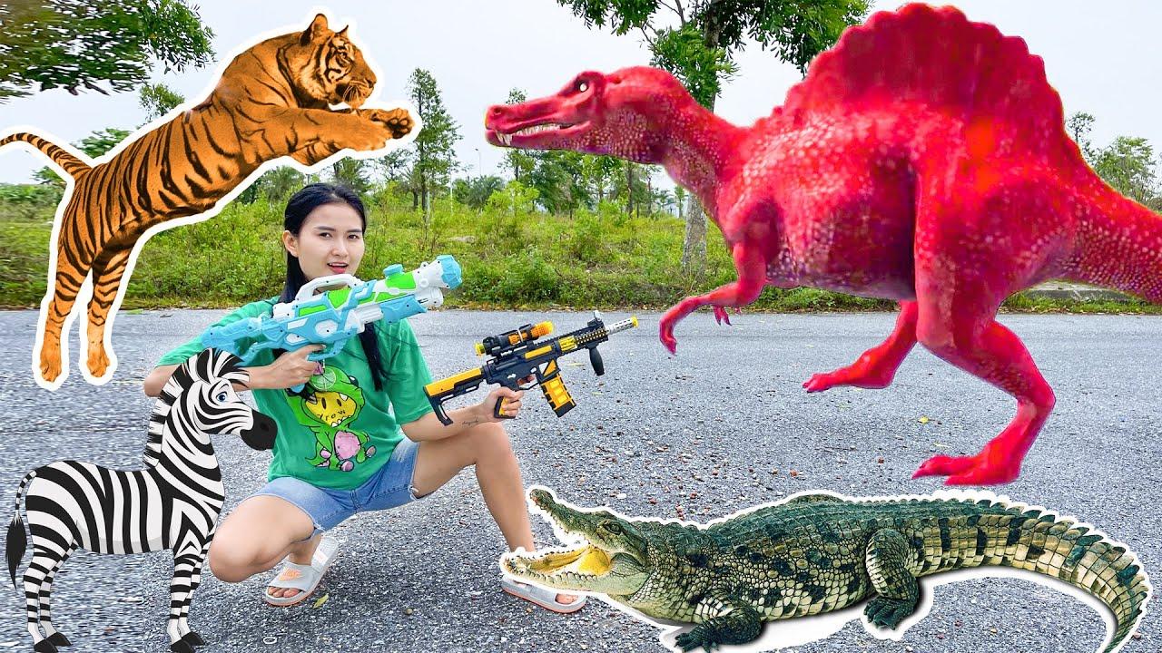 Download Changcady chiến đấu với khủng long, con hổ, cá sấu cứu các con vật : con lợn, ngựa vằn - Part 113