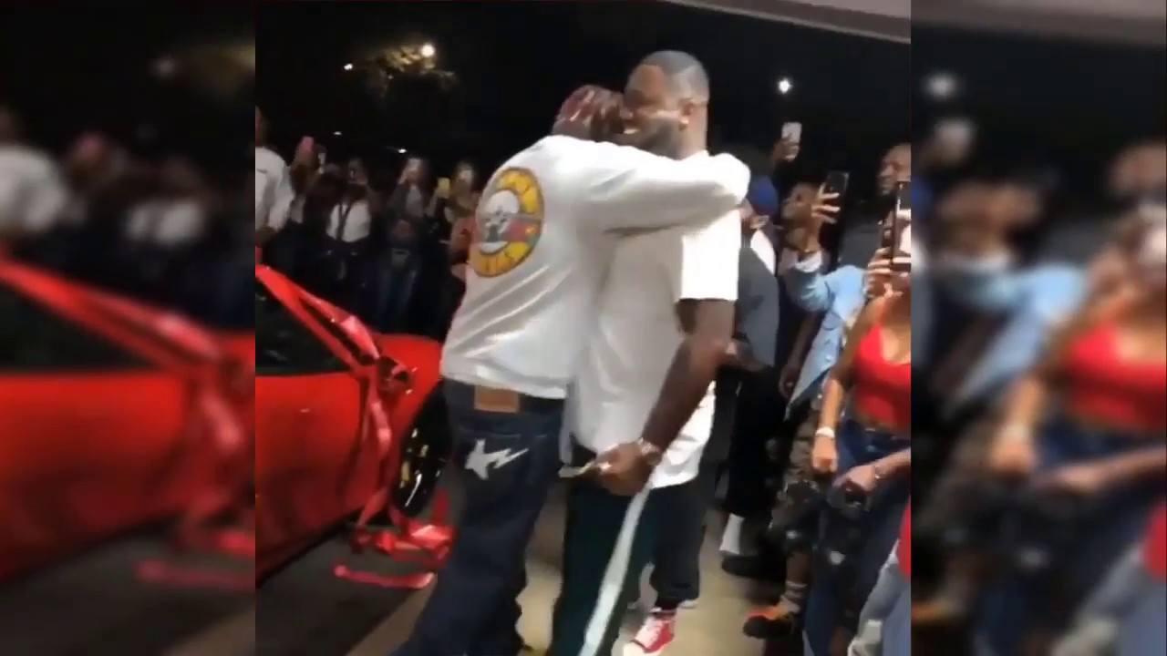 **LIL YACHTY** Almost Faints After Manager Gives Him $600K Ferrari As  Birthday Prese