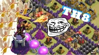 TH5 VS TH8 TROLL BASE??? + THE IMMORTAL HARRY POTTER!!! - Clash of Clans
