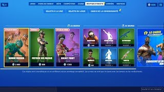 FORTNITE [ NEW SKIN: PISTUSE OF MARAIS / NEWS STYLES: HOMME POISSON - SOLDAT FUNKY ] 13-09-2019