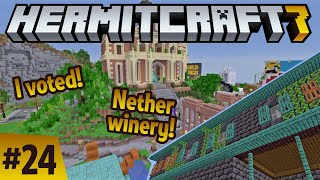 Hermitcraft 7: I voted! Let's build with nether materials! ep24