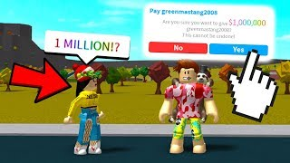 I CHANGED HER LIFE WITH 1 MILLION DOLLARS.. (Roblox Bloxburg)