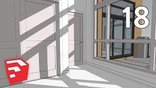 sECOND FLOOR TRIM - Dramatic Contemporary House Pt. 18